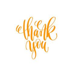 Thank you - hand lettering calligraphy positive vector