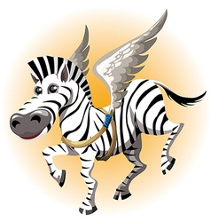 The pegasus zebra vector image