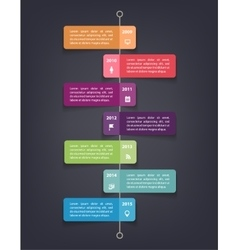 Timeline infographics design template with 7 vector image