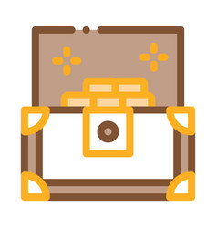 treasure chest icon outline vector image