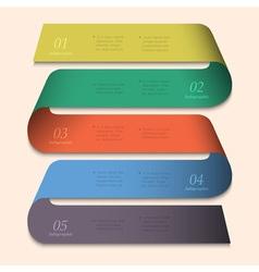 Trendy banner design for infographics vector image