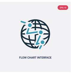 two color flow chart interface icon from user vector image