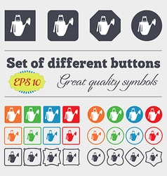 Watering can icon sign Big set of colorful diverse vector image