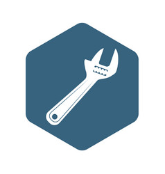 wrench tool isolated vector image