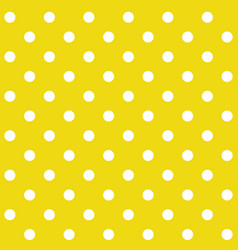 yellow polka dot seamless pattern vector image