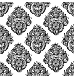 Black and white seamless pattern hand drawing vector image vector image
