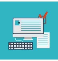 Flat concept of documents for business - vector image