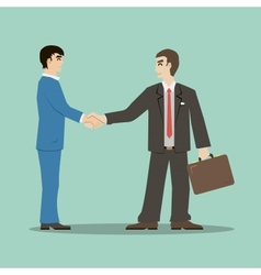 flat design style businessmans shaking hands vector image vector image