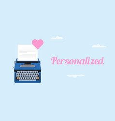 get personalized love letter with vector image vector image