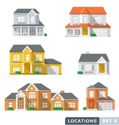 House icon set 1 vector image vector image