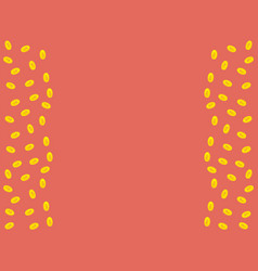pink background with golden coins and space for vector image