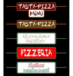 set of tags for pizzerias vector image vector image