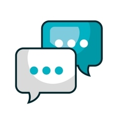speech bubble communication isolated icon vector image vector image