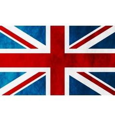 United Kingdom of Great Britain grunge flag vector image