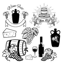 wine1 vector image