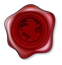 World globe sealing wax vector