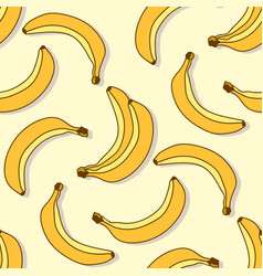 banana seamless pattern vector image