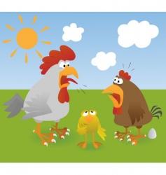chicken 3 vector image vector image