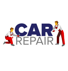 logo template for autoservice or car repair vector image vector image