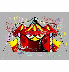 abstract circus vector image vector image