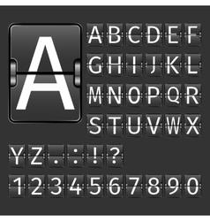 Airport Board Alphabet vector image