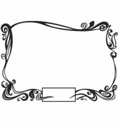 Ornamental border vector