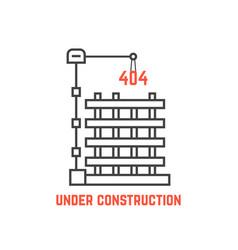 under construction like server error vector image vector image