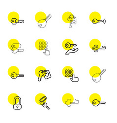 16 unlock icons vector image