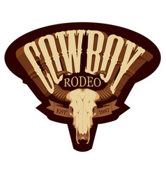 banner or emblem for a cowboy rodeo show vector image