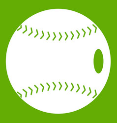 baseball ball icon green vector image