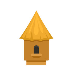 Bee tree house icon flat style vector