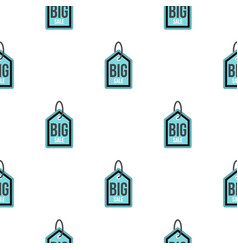 big sale tag pattern flat vector image