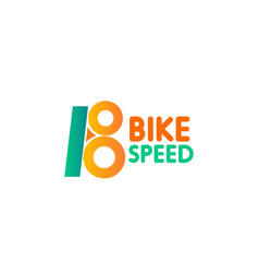 bike speed icon vector image