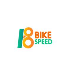bike speed icon vector image