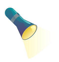 bright flashlight vector image
