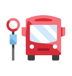 bus stop flat vector image