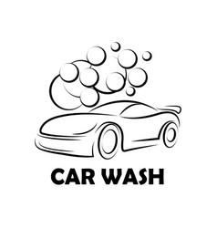 car wash logo image vector image