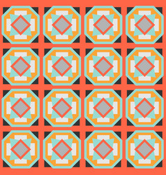 Ceramic tile abstract pattern geometric simple vector