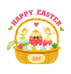 Christian holiday happy easter spring isolated vector