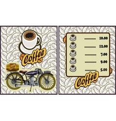 Coffee shop design elementsMotorcycle vector