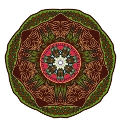 Coloring mandala Oriental pattern vector