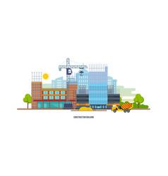 construction building house premises transport vector image