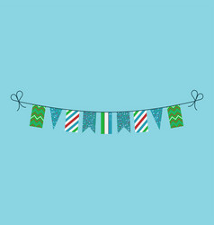 Decorations bunting flags for uzbekistan national vector