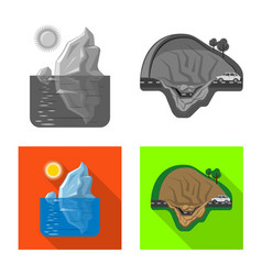 design natural and disaster icon vector image
