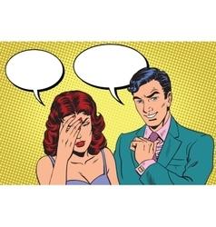 Difficult dialogue a headache vector