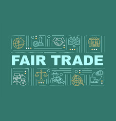Fair trade policy word concepts banner vector