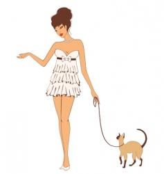 fashionable woman vector image