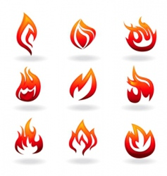 fire graphic vector image