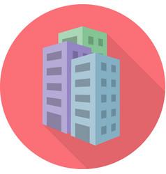 Flat condominium icon vector