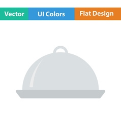 Flat design icon of Restaurant cloche vector image